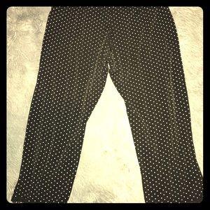 🎀super cute punk rock polka dot Capri leggings